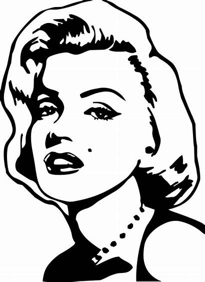 Marilyn Monroe Stencil Easy Outline Famous Pop