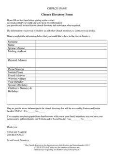 Free Printable Church Nursery Forms Thenurseries