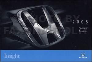 New 2005 Honda Insight Owners Manual Original Oem Hybrid