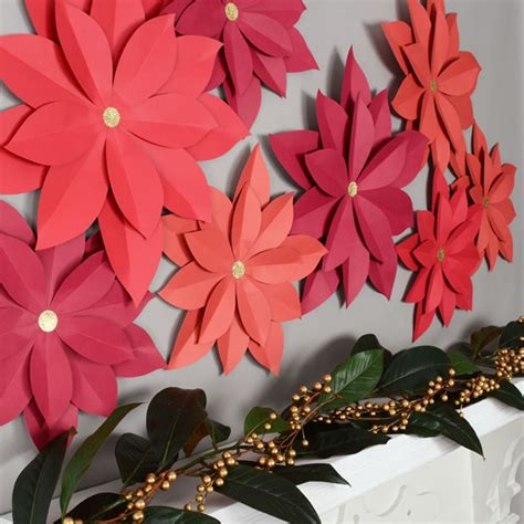 diy wall decorations    paper flowers