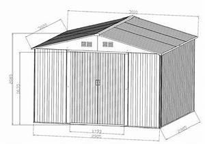 Geräteschuppen Aus Metall : gartenhaus ger teschuppen 9 09m aus verzinktem stahlblech metall gr n alles f r garten und ~ Buech-reservation.com Haus und Dekorationen