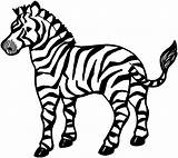 Zebra Coloring Animals Printable Young sketch template