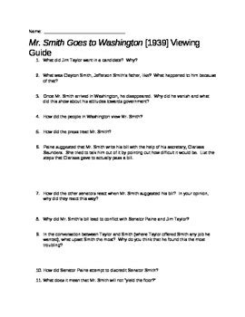 mr smith goes to washington worksheet answers mr smith goes to washington guide by the chronicler