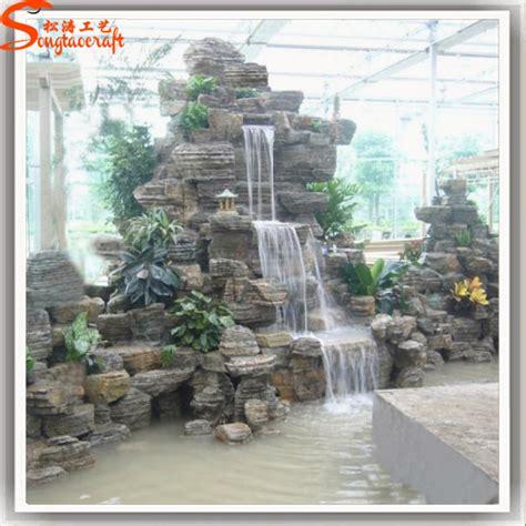 landscape indoor wall home decoration waterfall fiberglass