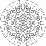 Coloring Mandala Coloringpages Getcoloringpages Flower Zszywka Faith Plastic sketch template