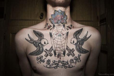beautiful swallow tattoos  chest