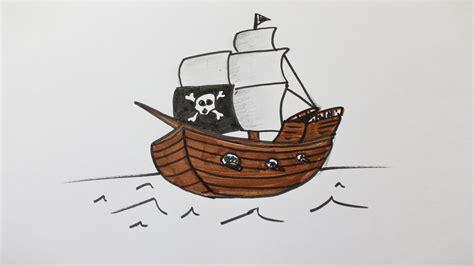 Dessin Bateau De Peche Facile by Comment Dessiner Un Bateau Pirate Youtube