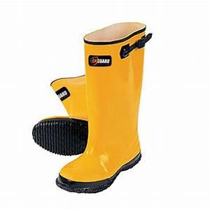 Enguard Men's Size 17 Yellow Rubber Slush Rain Boots-EGSB