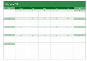 February 2021 Printable Monthly Calendars Templates