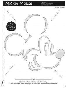 mickey mouse pumpkin stencil     mickey mouse