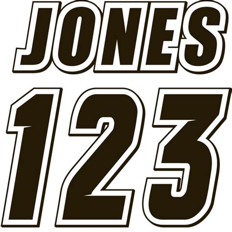 7 Motocross Number Fonts Images