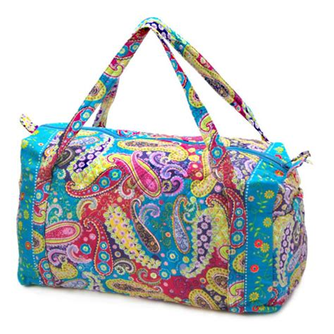 quilted duffle bag quilted duffel bag neon paisley pattern