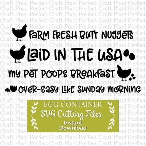 egg container sayings svg fresh eggs svg egg container