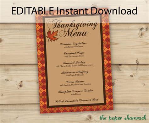 thanksgiving menu template free costumepartyrun