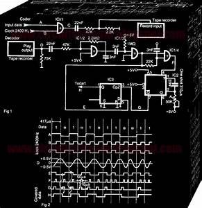 Simple Tape Recorder Interface Circuit Diagram
