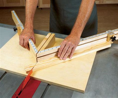 tablesaw miter sled woodworking plan