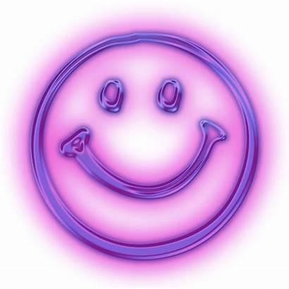 Neon Smiley Happy Purple Face Smileys Faces