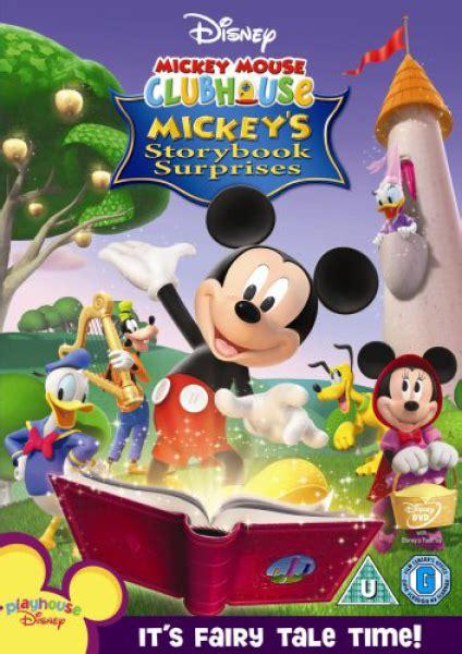 mickey mouse clubhouse story book dvd zavvi uk