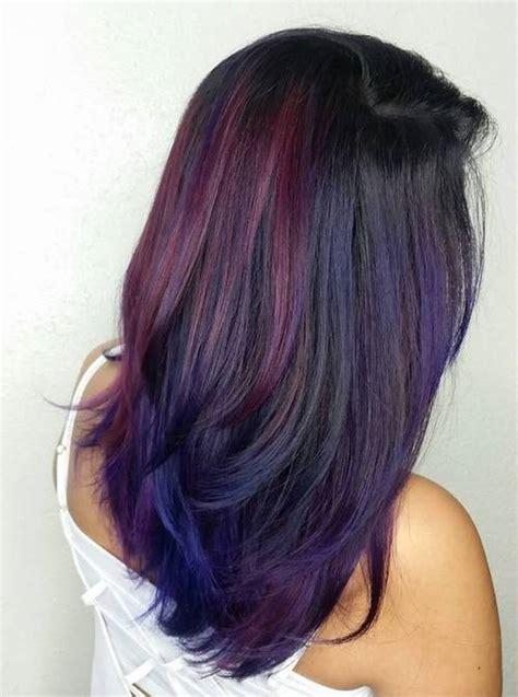 sassy purple highlighted hairstyles  short medium long hair pretty designs