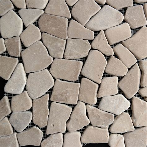 flat pebble mosaic tile brown flat stone pebble mosaic tile