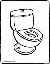 Toilet Coloring Drawing Colouring Kiddicolour Pages Printable Getdrawings sketch template