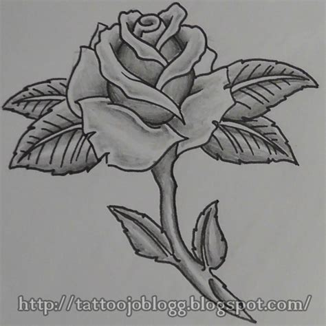 Rose Tattoo Easy To Draw