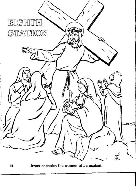 stations of the cross coloring pages stations of the cross coloring page coloring home