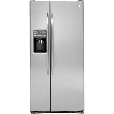 ge profile 33 in w 23 1 cu ft side by side refrigerator in stainless steel psss3rgzss the