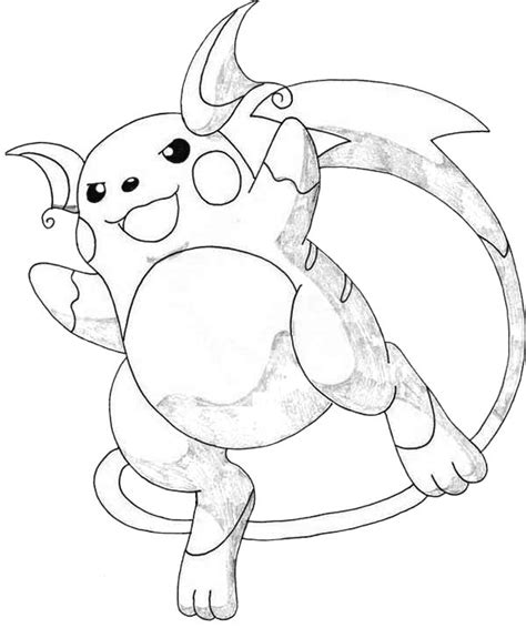 Kleurplaat Raichu by Awesome Picture Of Raichu Coloring Page Color