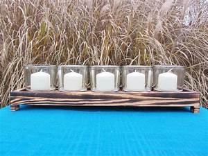Custom Made Reclaimed Wood Candle Holder Made From