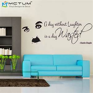 Charlie chaplin laughter quote wall decal sticker art