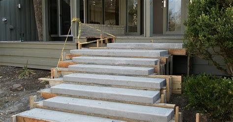 floating concrete steps concrete steps outdoor living