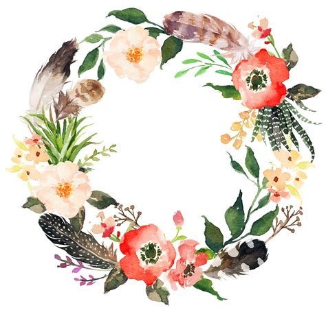 feathers clipart wreath feathers wreath transparent     webstockreview