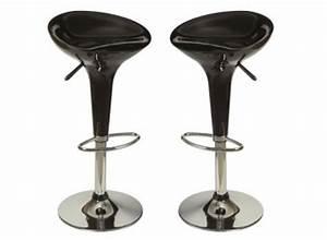 Tabouret De Bar Noir : lot de 2 tabourets de bar blanc tabouret design pas cher ~ Melissatoandfro.com Idées de Décoration