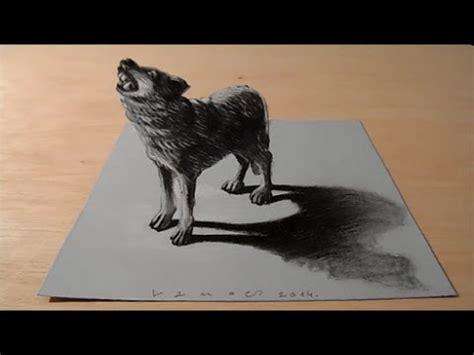 drawing   wolf trompe loeil youtube