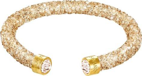 swarovski armband gold bol swarovski armband crystaldust cuff gold s 5255897