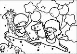 Pages Twin Stars Coloring Twins Star Sanrio Melody Kuromi Getdrawings Characters Template sketch template