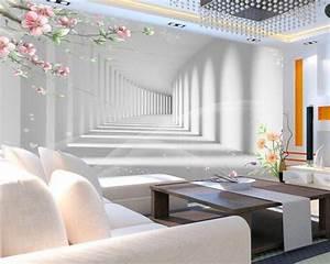 beibehang 3d mode blume promenade 3d verlangerung raum With markise balkon mit tapete flower