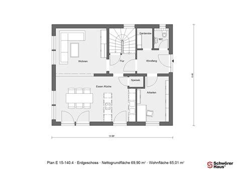 Schöner Wohnen Haus Mono by Erdgeschoss Grundriss Schw 246 Rer Plan E 15 140 4 Mit 56 M