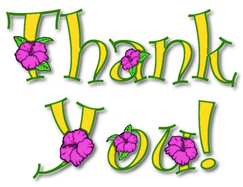thank you clipart free thank you flowers clipart free clipart images 2
