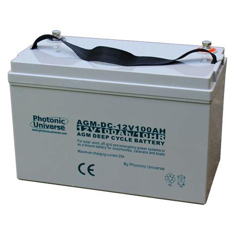 agm batterie 100ah 100ah 12v cycle agm battery motorhome boat leisure solar wind 12 volt ebay