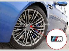 New 3D M Emblem M Wheels Sticker Wheel Steering Sticker