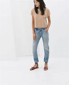 RIPPED BOYFRIEND JEANS - Jeans - WOMAN - SALE | ZARA Czech Republic