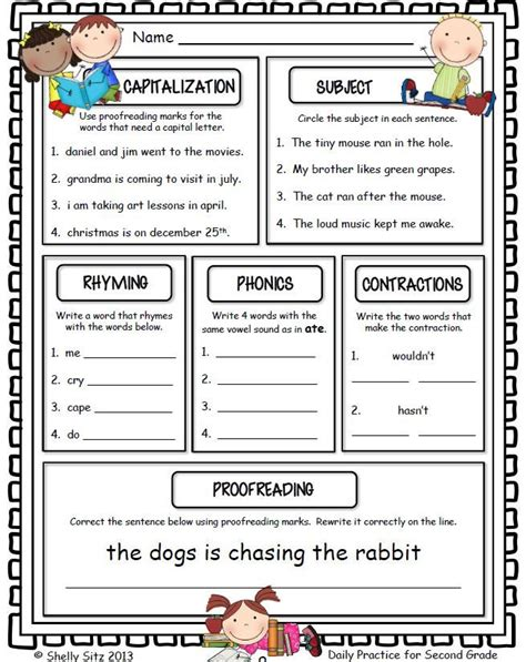 morning work freebie for 2nd grade free educational