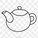 Teapot Coloring Kettle Drawing Tea Favpng sketch template