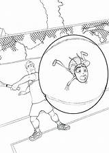 Coloring Pages Tennis Racket Bee Megamind Template Ball Barry Getcolorings Hit sketch template