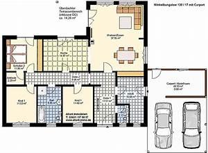 Bodenplatte Garage Kosten Pro Qm : winkelbungalow 130 17 carport einfamilienhaus neubau ~ Lizthompson.info Haus und Dekorationen