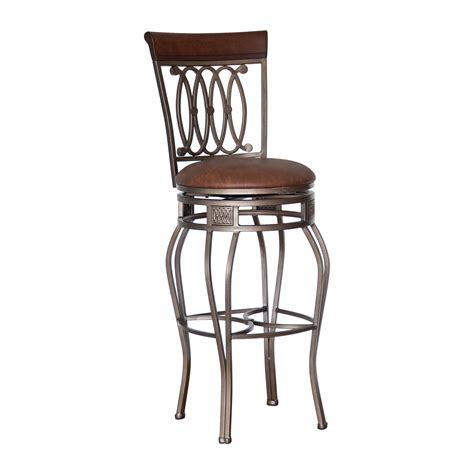 Swivel Chair Brown Covers Chair Decoration Swivel Chairs by Grey Iron Swivel Bar Stool With Brown Wooden Back And
