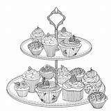 British Cake Food Coloriage Coloring Great Pages Cupcake Adult Books Harriet Popham Cooking Amazon Printable Craft Sheets sketch template