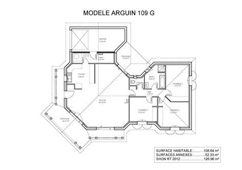 plan maison 3 chambres cuisine gorgeous plan maison en u plan de maison en u 4